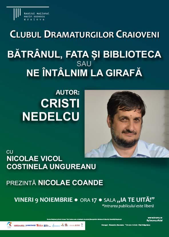 O nouă lectură publică la Clubul Dramaturgilor Craioveni
