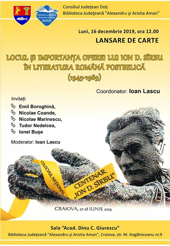 Locul și importanța operei lui Ion D. Sîrbu în literatura română postbelică (1945-1989)