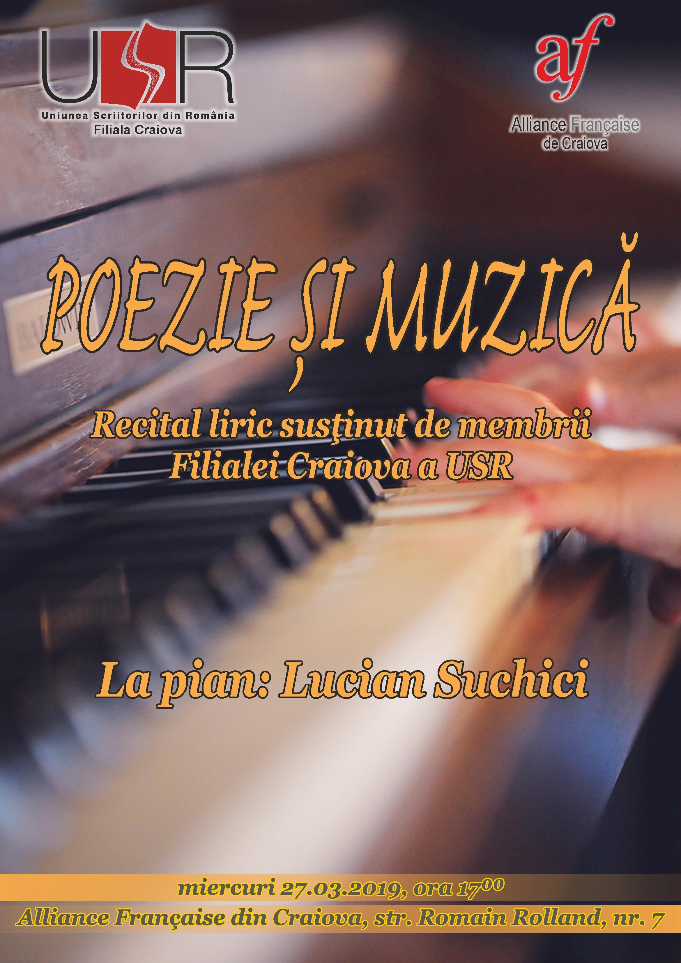 Recital liric şi muzică, la Alliance Française din Craiova