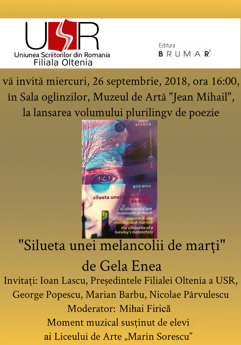 Poeta Gela Enea lansează un volum plurilingv
